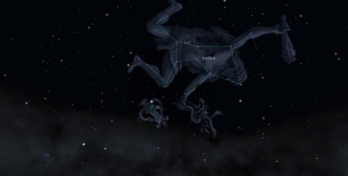 ヘルクレス星座絵