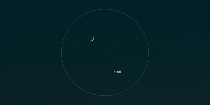 月金星双眼鏡視野