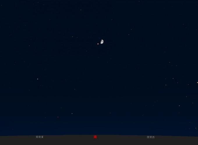火星と月10月18日