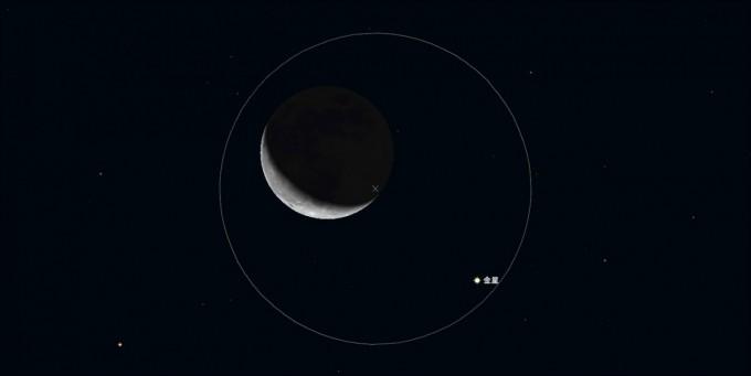 1月2日月金星拡大