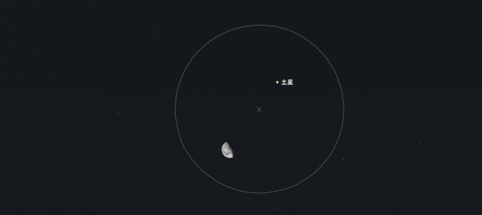 土星と月5度