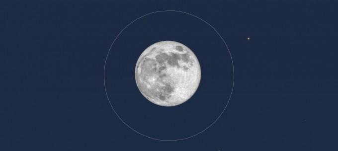 満月 視野1度