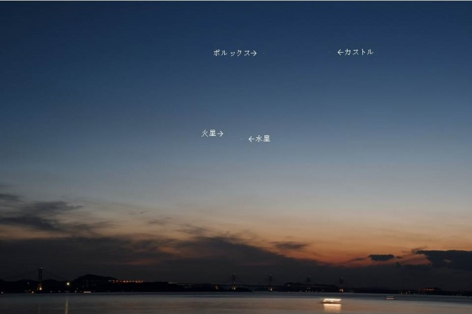 6月17日水星と火星